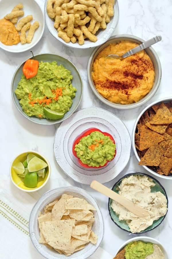 Mango Habanero Guacamole @spabettie #vegan #glutenfree #oilfree #appetizer #party #spicy