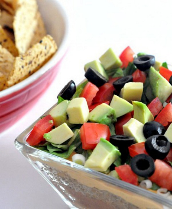 Seven Layer Dip with Noocho Cheese