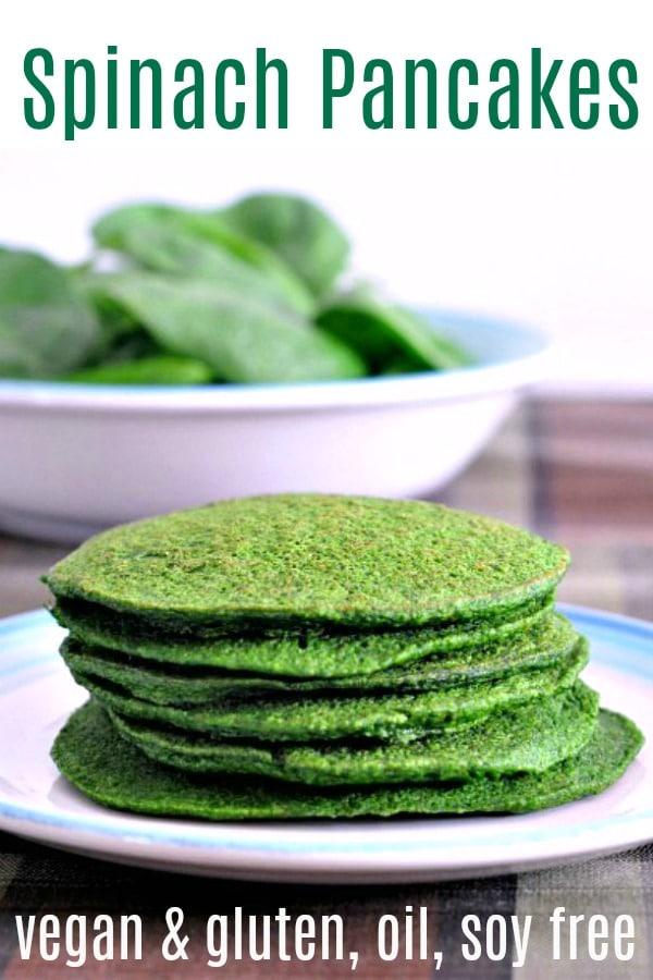 Spinach Pancakes @spabettie #vegan #glutenfree #oilfree #soyfree #protein #breakfast