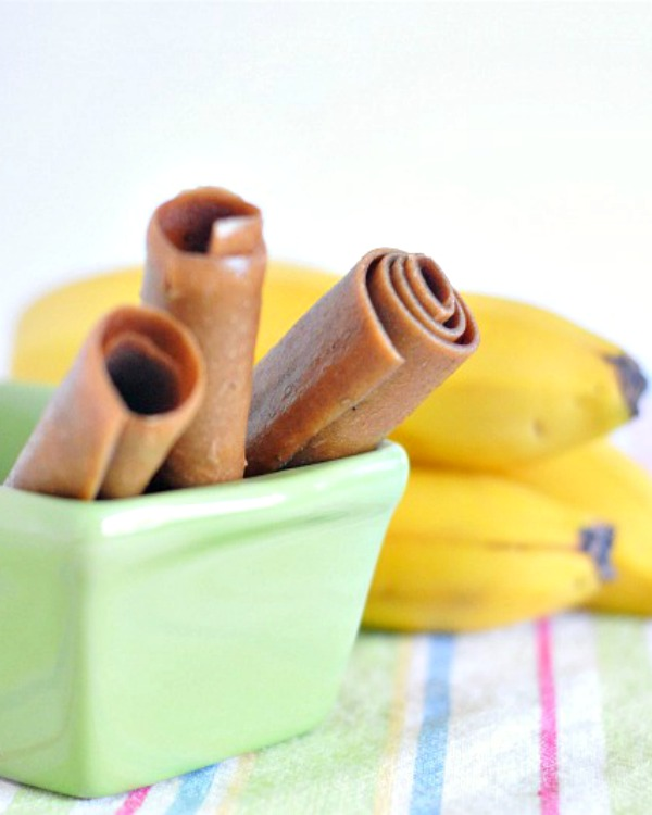 Peanut Butter Banana Fruit Roll Recipe @spabettie