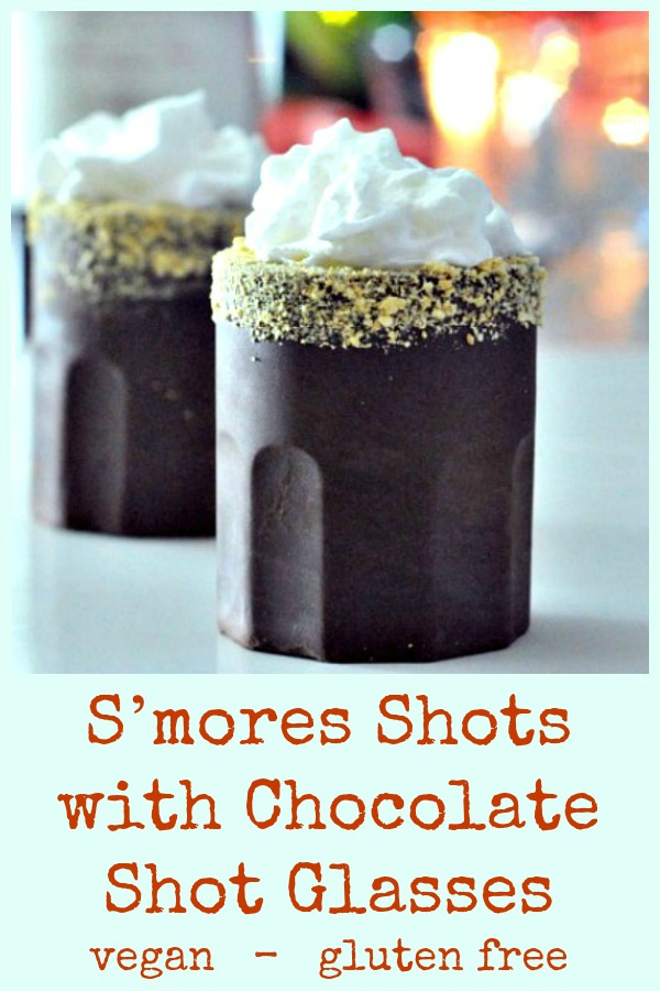 Smores Shots with Chocolate Glasses @spabettie #vegan #glutenfree