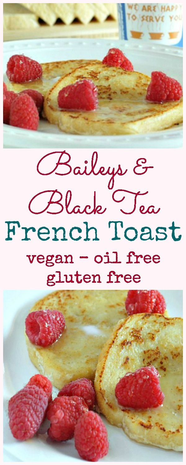 Baileys and Black Tea French Toast @spabettie #vegan #glutenfree #breakfast #brunch #Valentines