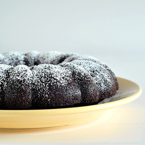 decadent dark chocolate mocha bundt cake
