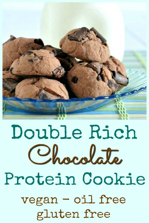 Double Rich Chocolate Protein Cookie @spabettie #vegan #oilfree #glutenfree #protein