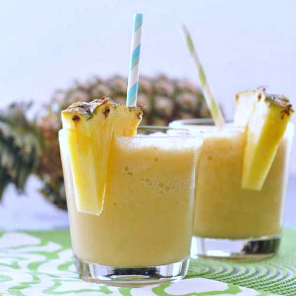Light and Fresh Piña Coladas