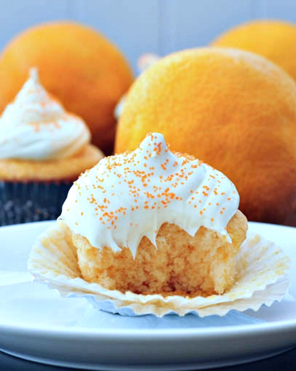Orange Creamsicle Cupcakes @spabettie