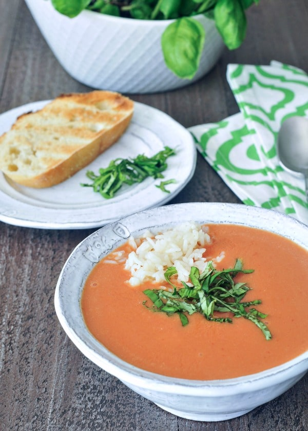 Tomato Orange Soup @spabettie #dairyfree #soyfree #vegan #comfortfood #glutenfree