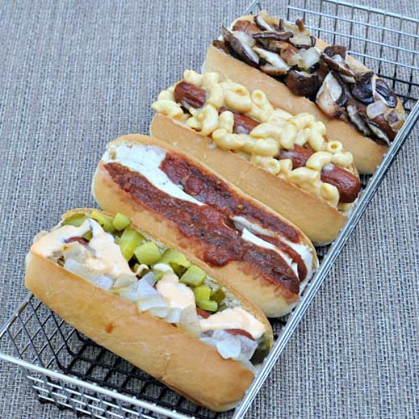 Hot Dog Toppings Bar