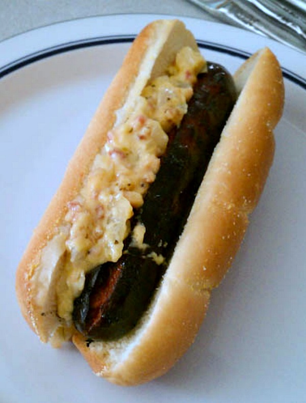 Caramelized Onion Bacon Dog