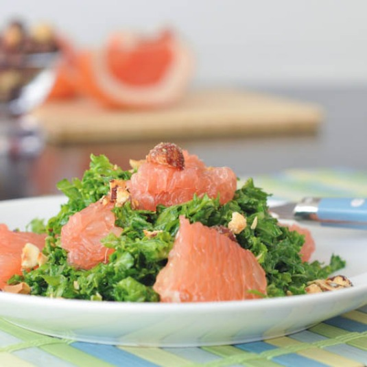 grapefruit kale salad