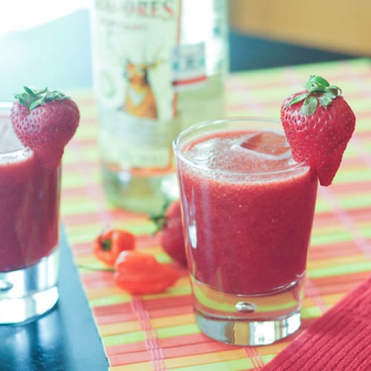 Spicy Strawberry Habanero Margaritas