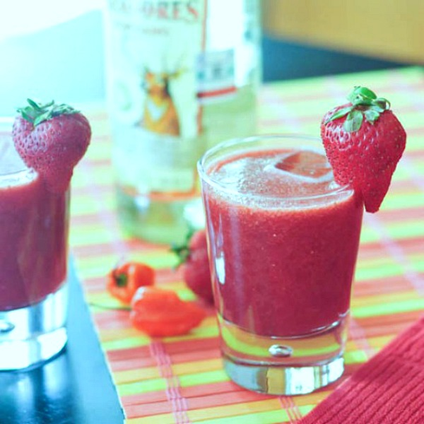 Strawberry Habanero Margaritas
