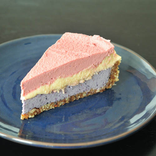 Triple Berry Raw Cheesecake - Red, White, Blue