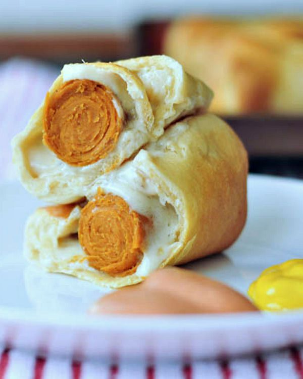 Old School Wiener Wraps @spabettie #vegan #dairyfree