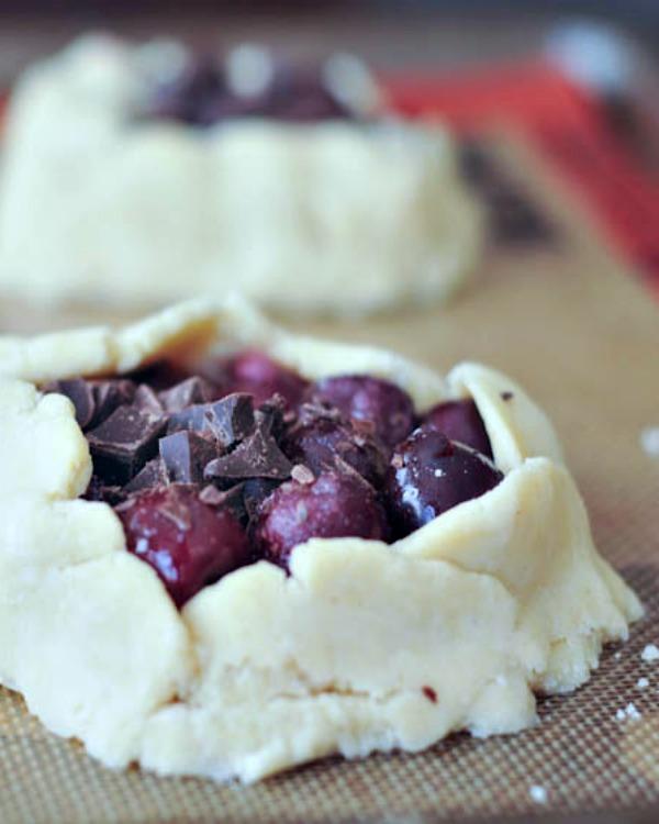 Dark Chocolate Cherry Galette #vegan #glutenfree #pie #sweet #chocolate #dessert