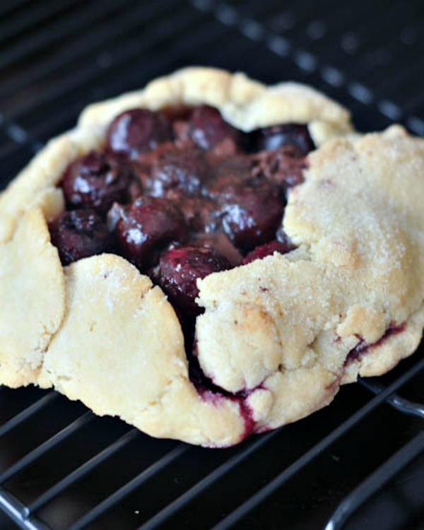 Dark Chocolate Cherry Galette #vegan #glutenfree #pie #sweet #chocolate #dessert