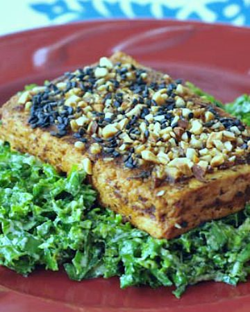 Marcona Sesame Dusted Tofu @spabettie