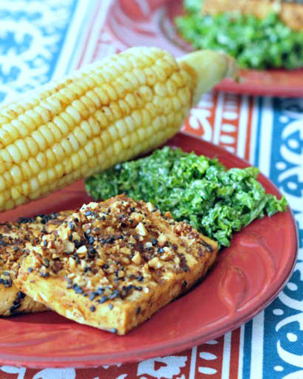 Marcona Sesame Crusted Tofu @spabettie