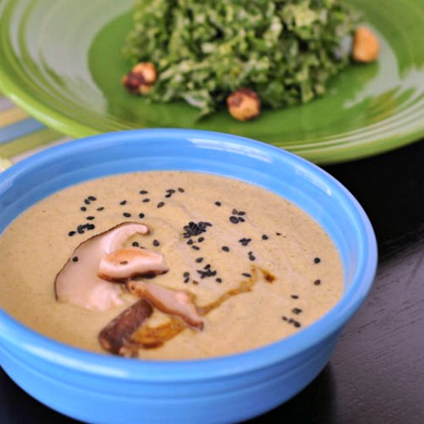 Blackened Broccoli Bisque