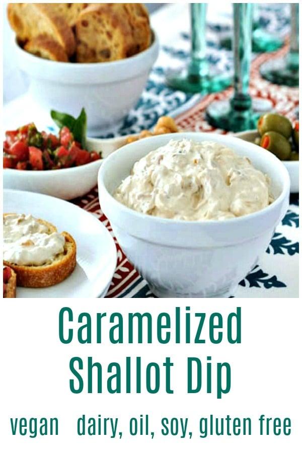 Caramelized Shallot Dip @spabettie #vegan #dairyfree #glutenfree #oilfree #soyfree #appetizer #comfortfood #tasty