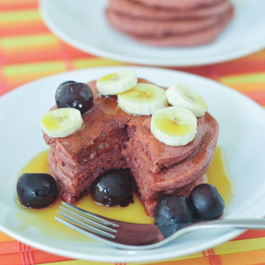 perfect cherry pancakes
