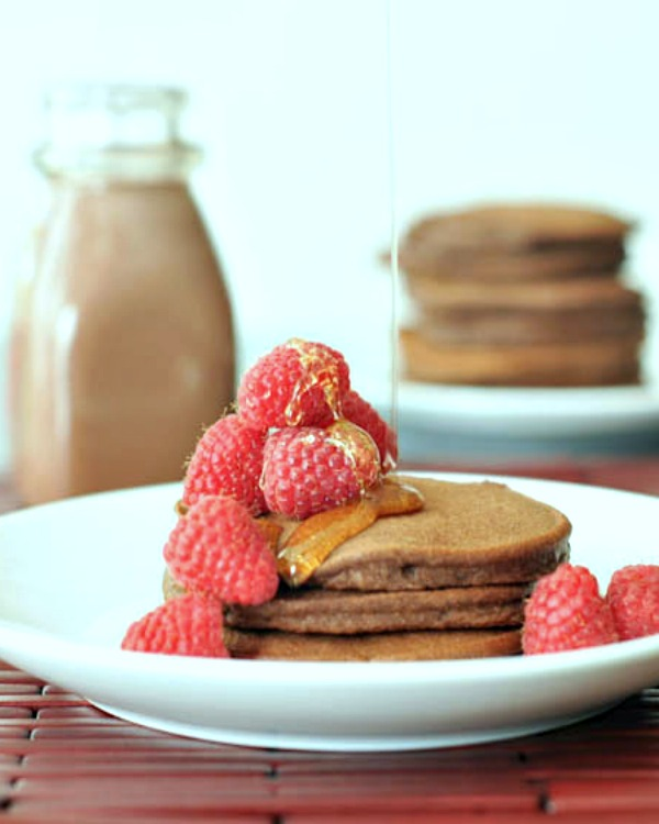 Double Rich Chocolate Pancakes @spabettie