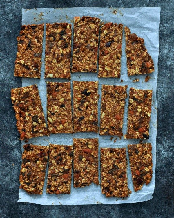 Ginger Vanilla Protein Crunch Bars on parchment