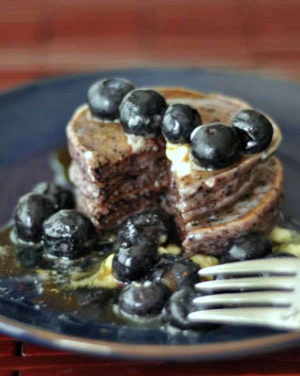 Blueberry Lemon Pancakes @spabettie