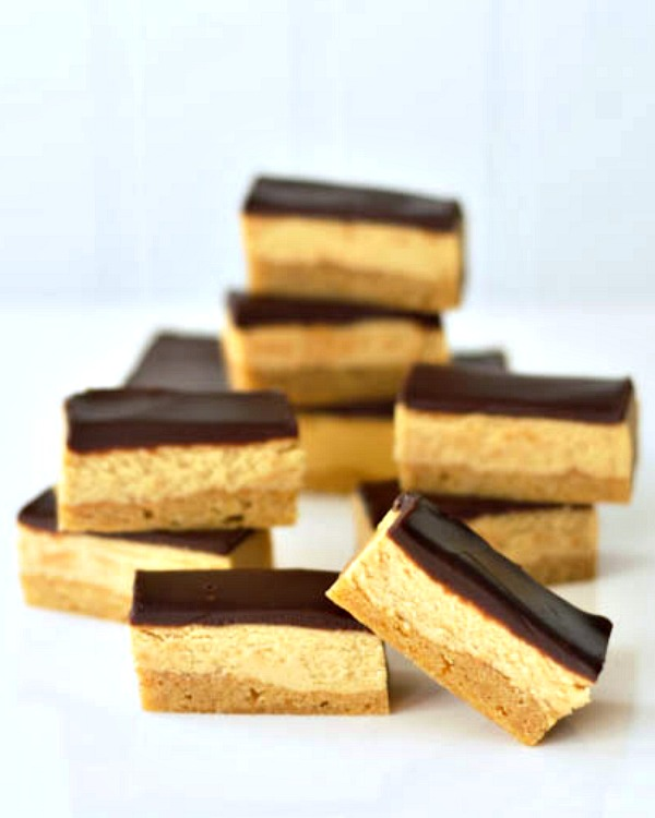 Chocolate Tahini Shortbread Bars @spabettie