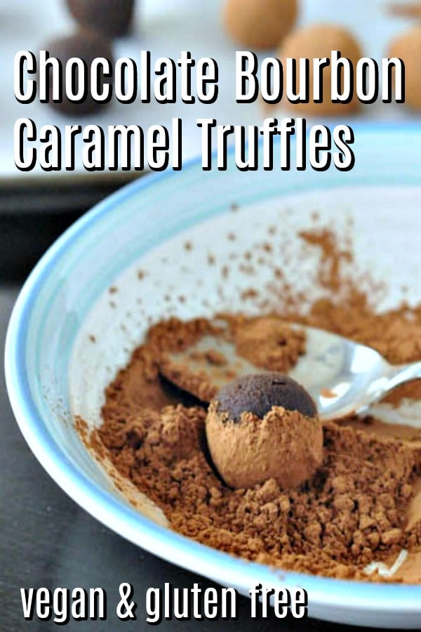 Chocolate Bourbon Caramel Truffles @spabettie #vegan #glutenfree #dairyfree #oilfree #soyfree #chocolate #truffles
