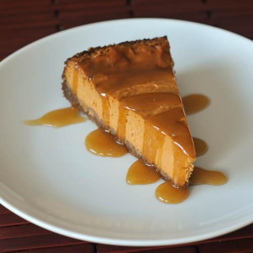maple cream pumpkin pie with buttery gingersnap crust