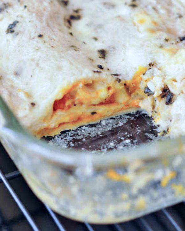 Roasted Butternut Lasagna with Crispy Sage and Cashew Bechamel @spabettie