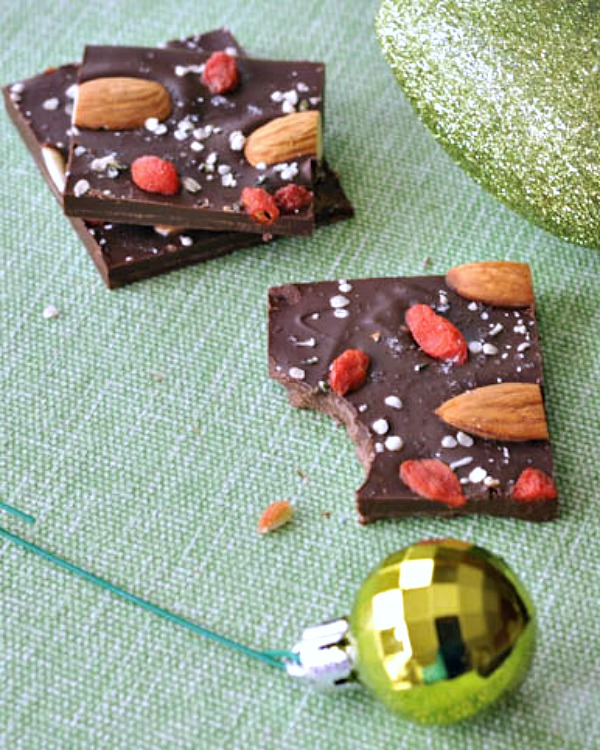 Dark Chocolate Superfood Bark @spabettie