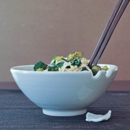 gingered sesame-coconut udon
