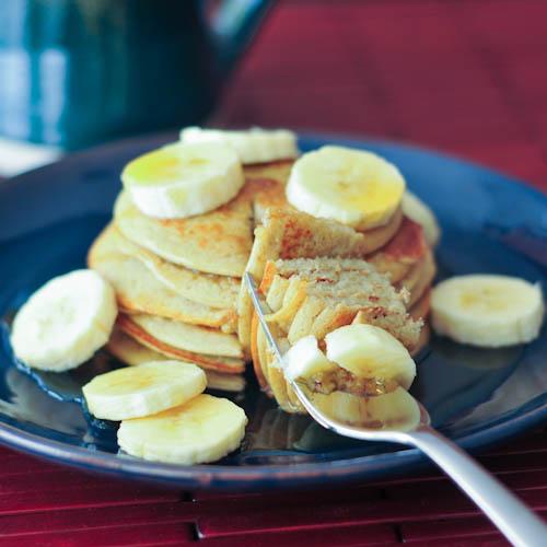 banana maca pancakes