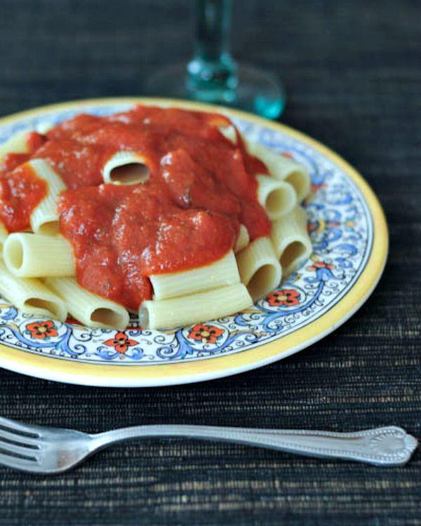 Slow Cooker Basil Marinara @spabettie