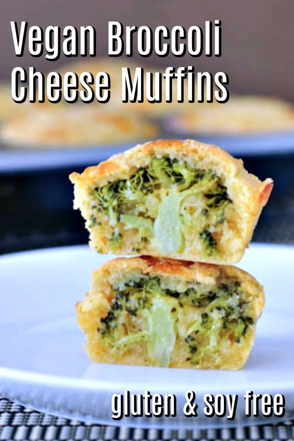 Vegan Broccoli Cheese Muffins @spabettie #vegan #glutenfree #soyfree #dairyfree #brunch