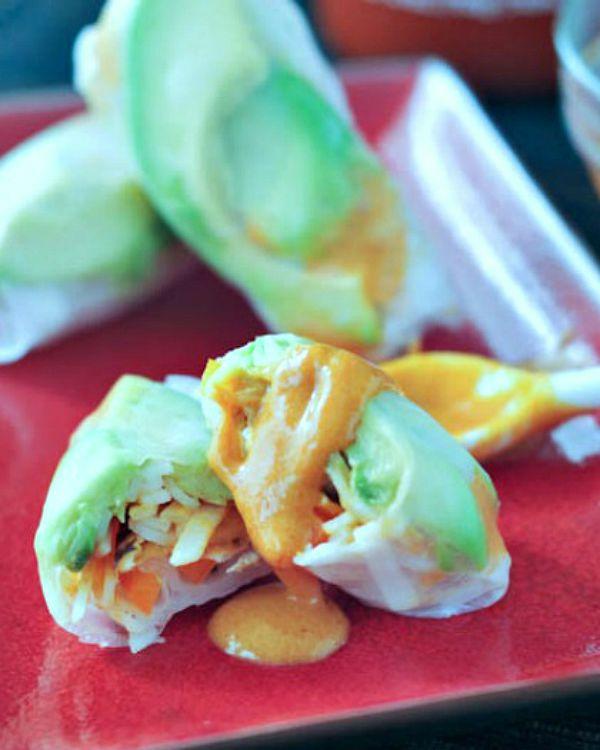 Avocado Shiitake Spring Rolls @spabettie