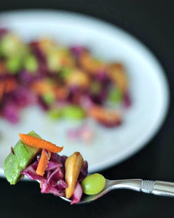 Cashew Cabbage Crunch Salad @spabettie