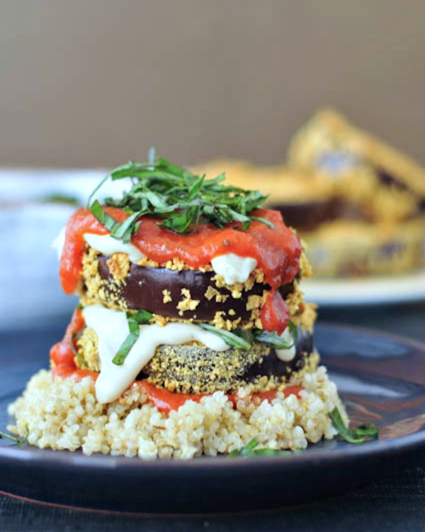 Crispy Eggplant Stacks Vegan @spabettie