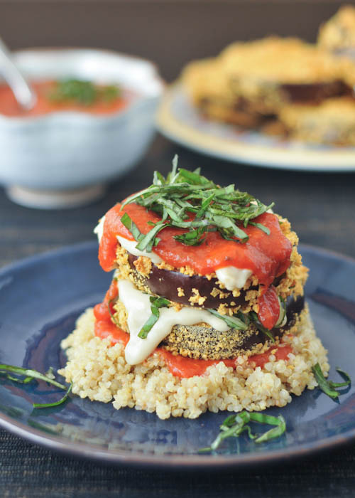 crispy eggplant stacks