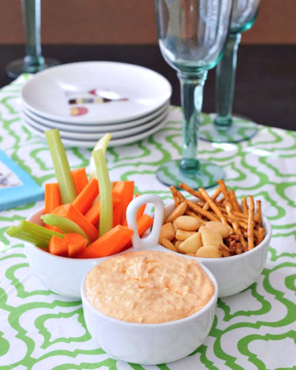 Roasted Red Pepper Goat Cheese Dip @spabettie