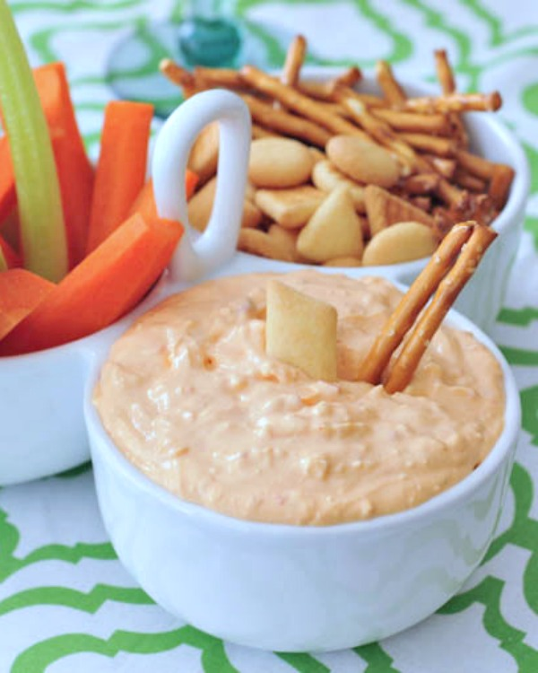 Roasted Red Pepper Goat Cheese Dip Vegan @spabettie