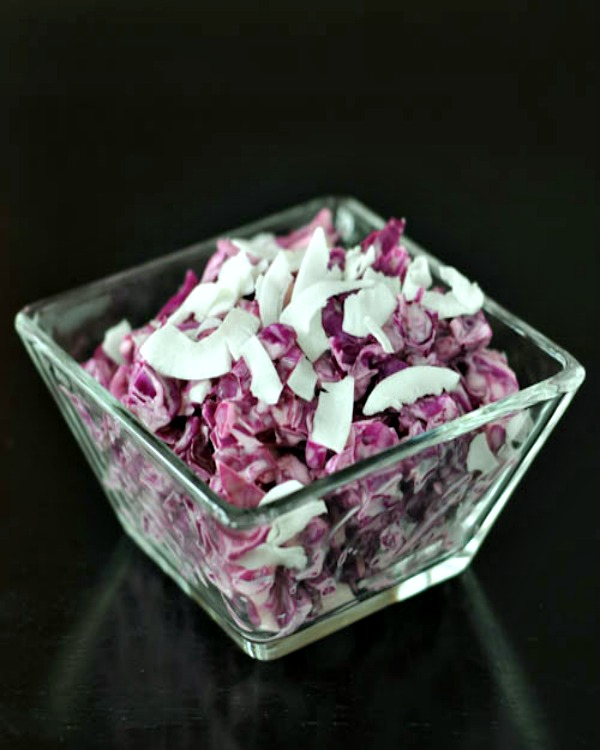 Cool Coconut Cabbage Slaw @spabettie
