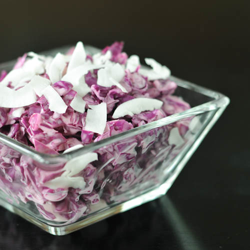 cool coconut cabbage slaw