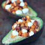 Buffalo Chickpea Bella Baked Avocado @spabettie