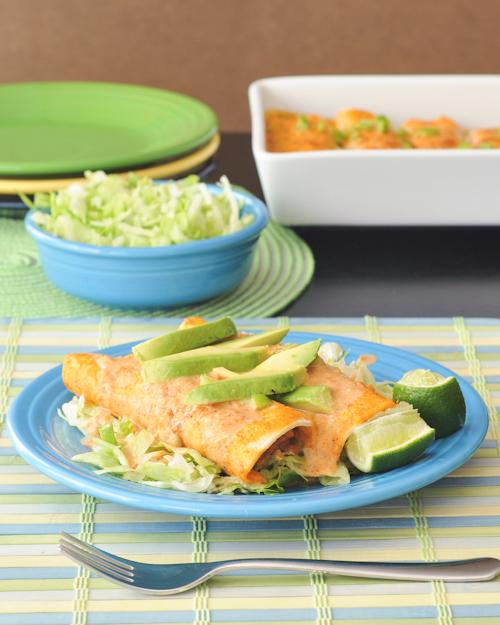 Creamy Tortilla Soup Enchiladas