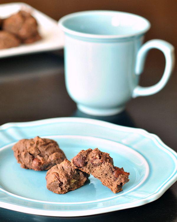 Double Dark Chocolate Avocado Cookies @spabettie