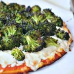 Lemony Blackened Broccoli Pizza @spabettie