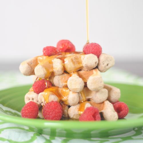raspberry coconut waffles